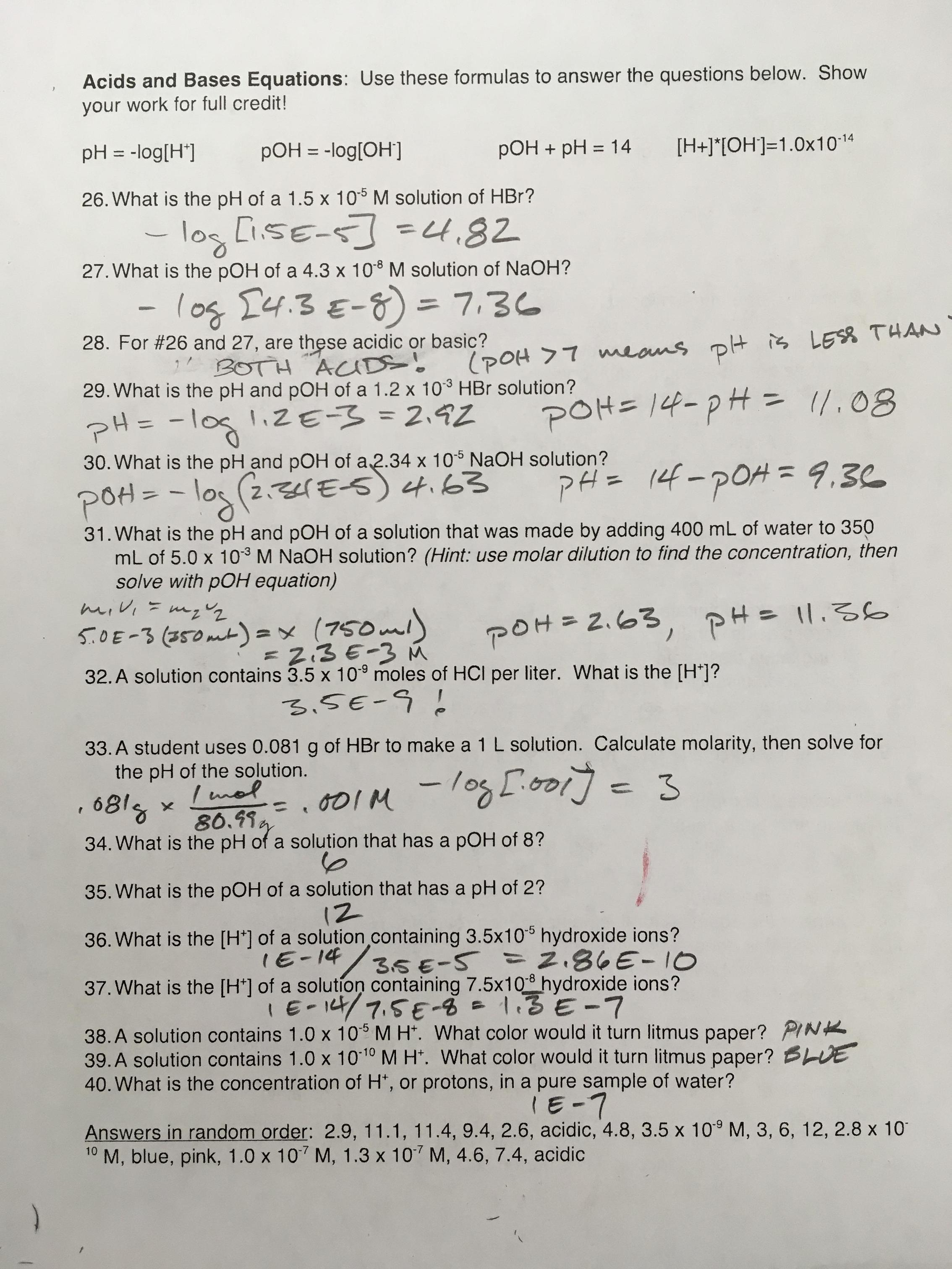 Chemistry Unit 1 Worksheet 6 Dimensional Analysis Answer ...