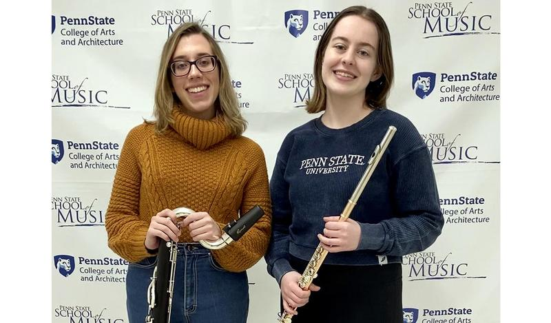 Mars Area High School alumnae Katie Olsen and Michelle Manukas will perform with the Penn State University School of Music Symphonic Wind Ensemble at  the 14th annual President's Concert at Carnegie Hall on Feb. 18.