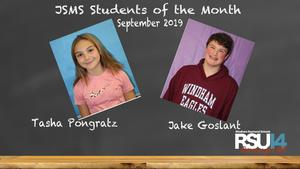 JSMS Students of the Month 9/19