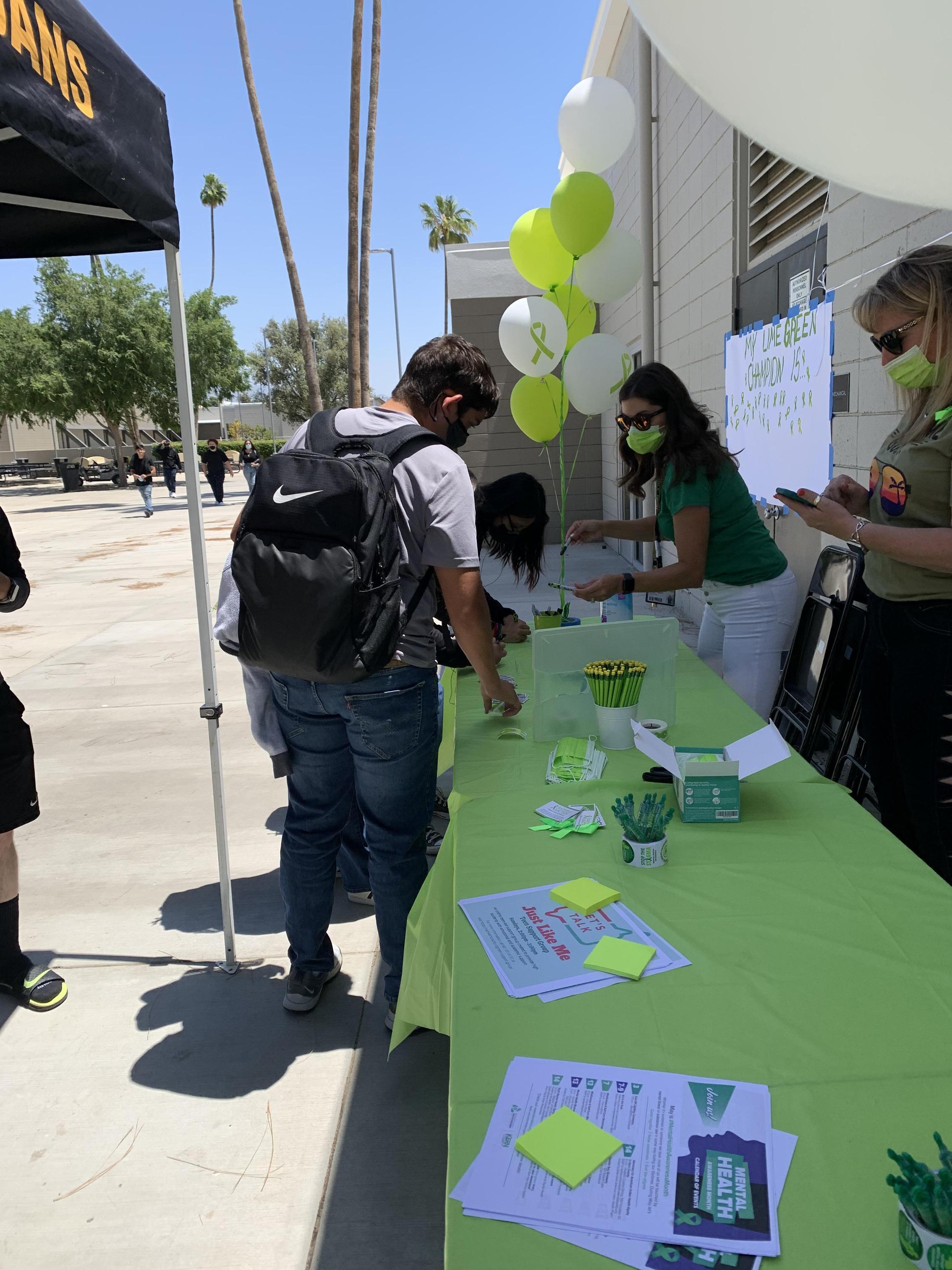 Foothill High School green ribbon activity