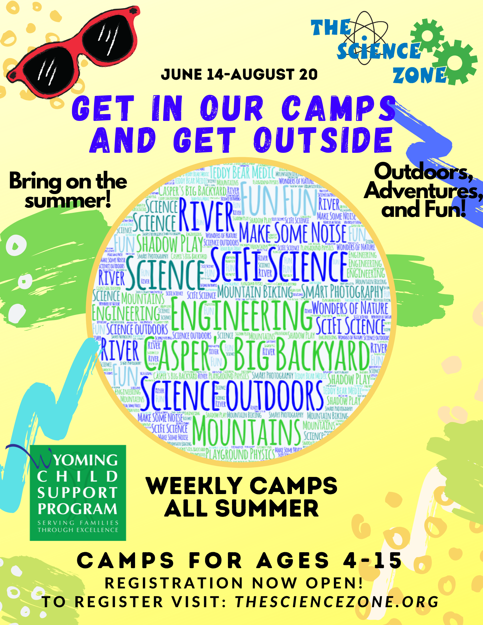 Science Zone Summer Camps Flyer