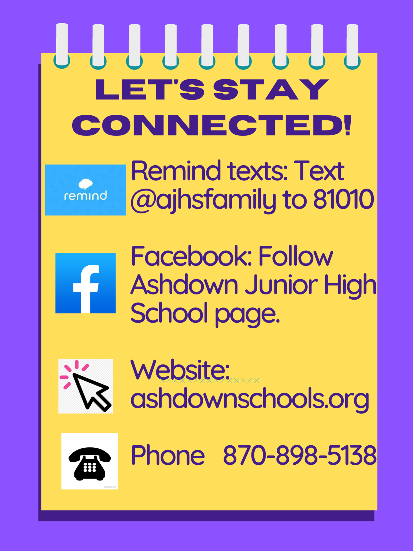 AJHS Stay Connected