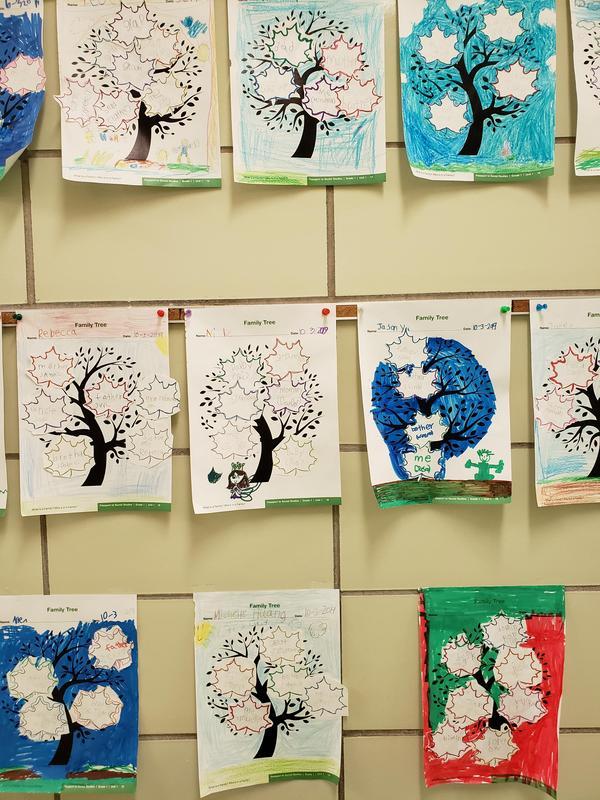1st grade's work.一年級學生的作業。