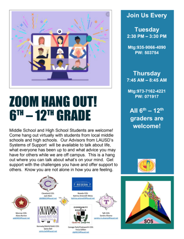 New Zoom Hangout 6th-12th Grade Featured Photo