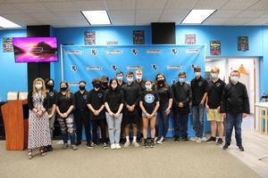 Students in Media Center