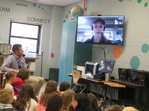 Skype gives students the chance to talk with an educator at South Carolina's Aquarium Sea Turtle Hospital.