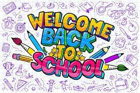 Colorful Picture reads Welcome Back to School