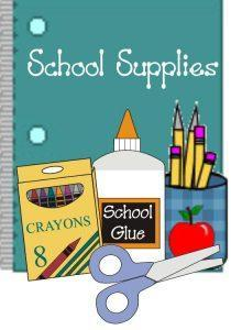 School Supply Lists for TK-5th Featured Photo