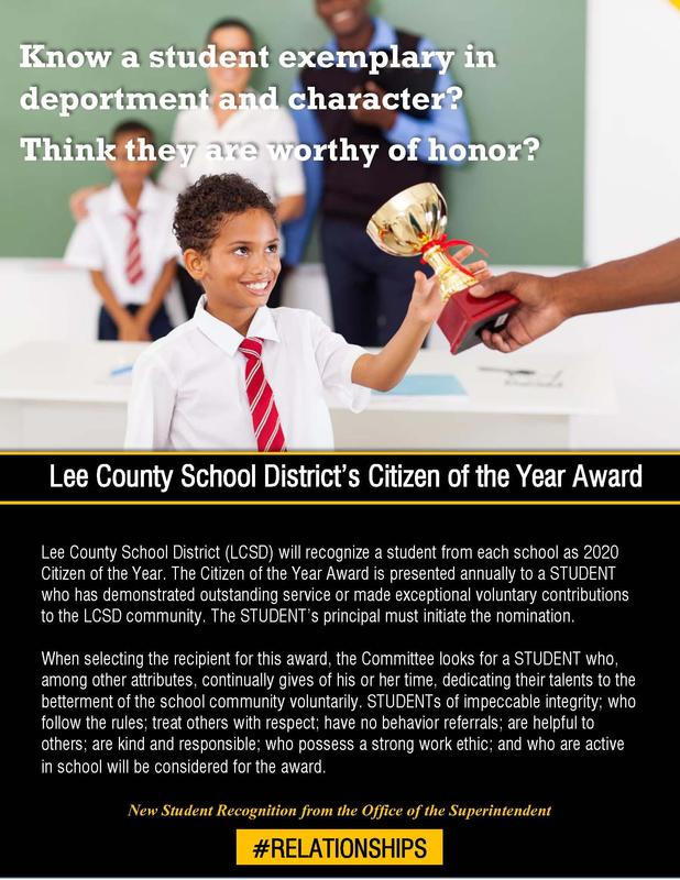 LCSD Citizen of the Year flyer