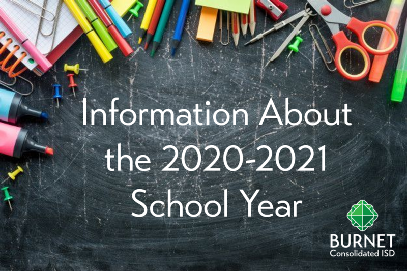 Information About the 2020-2021 School Year Thumbnail Image