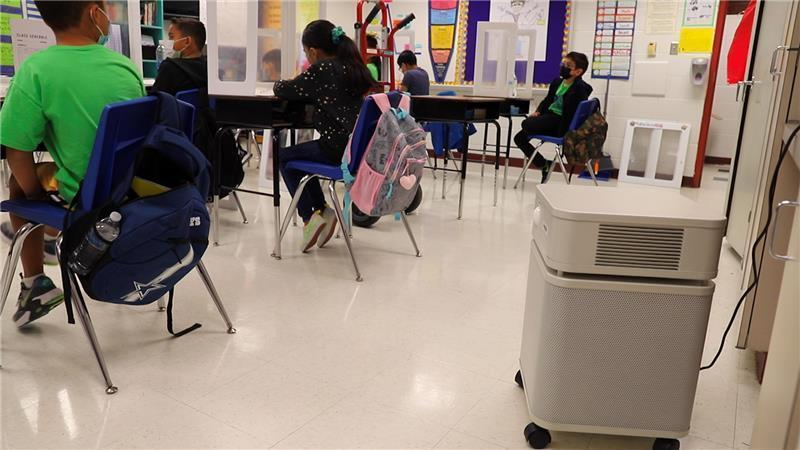 Mission CISD crew has completed the installation of 1,250 air purifiers Featured Photo