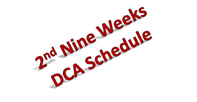 2nd Nine Weeks Schedule