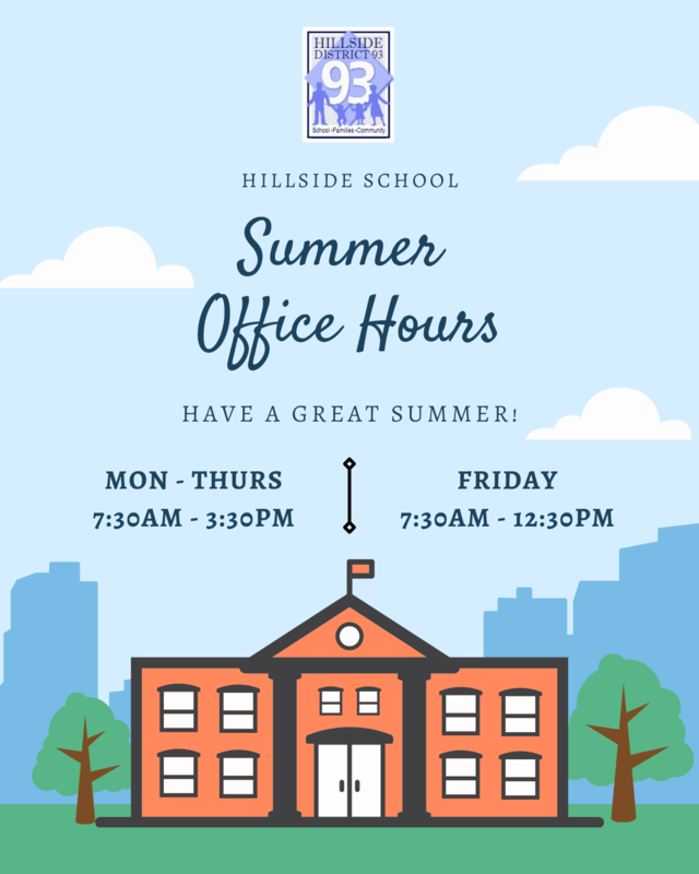 The Summer Hours starting on May 28 to August 6 will be the following:  Monday-Thursday - 7:30 a.m.  – 3:30 p.m.  Friday - 7:30 a.m. - 12:30 p.m.   If you haven't already done so, don't forget to register your child(ren) for the 2021-2022 school year.