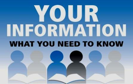 Image that reads Your Information, what you need to know, no links