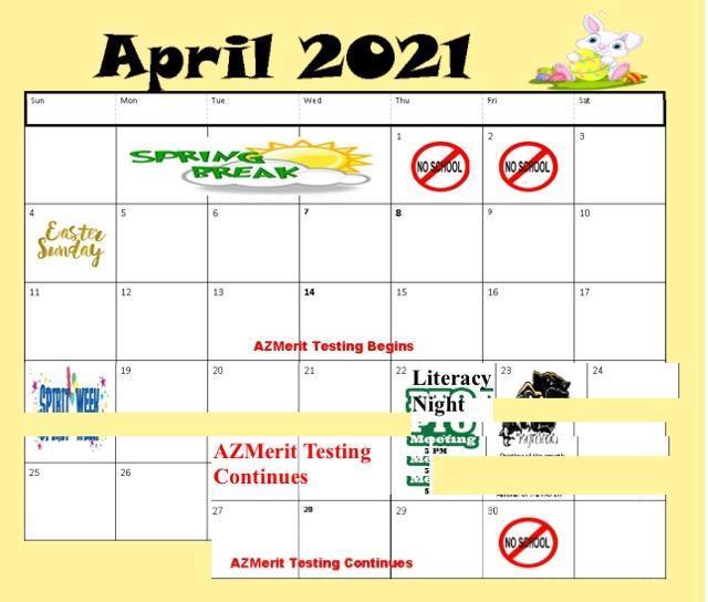April Calendar 2021 Featured Photo