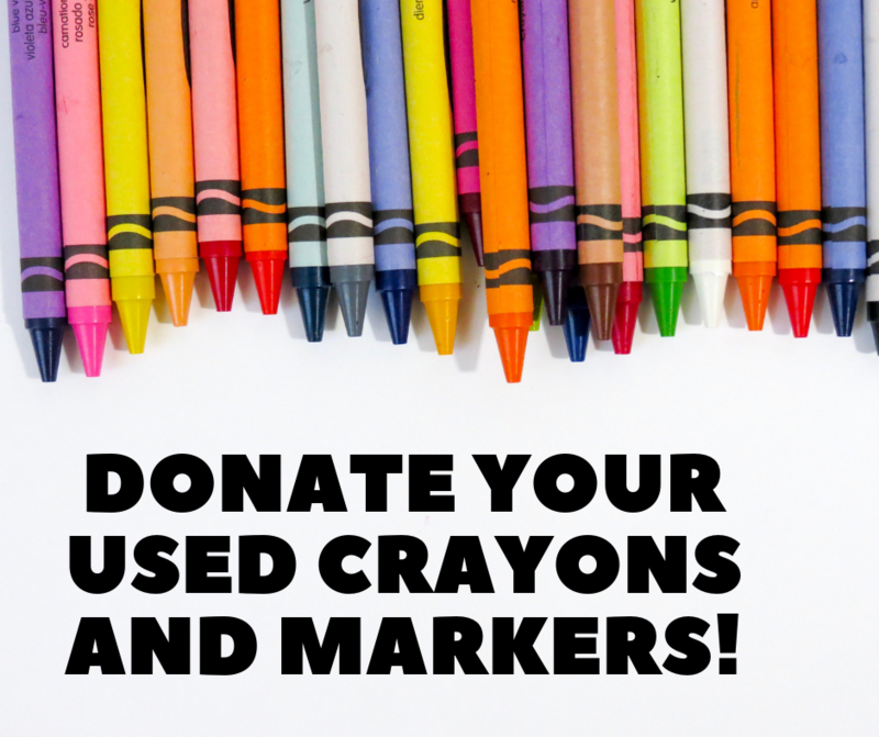 Donate Used Crayons and Markers! Thumbnail Image