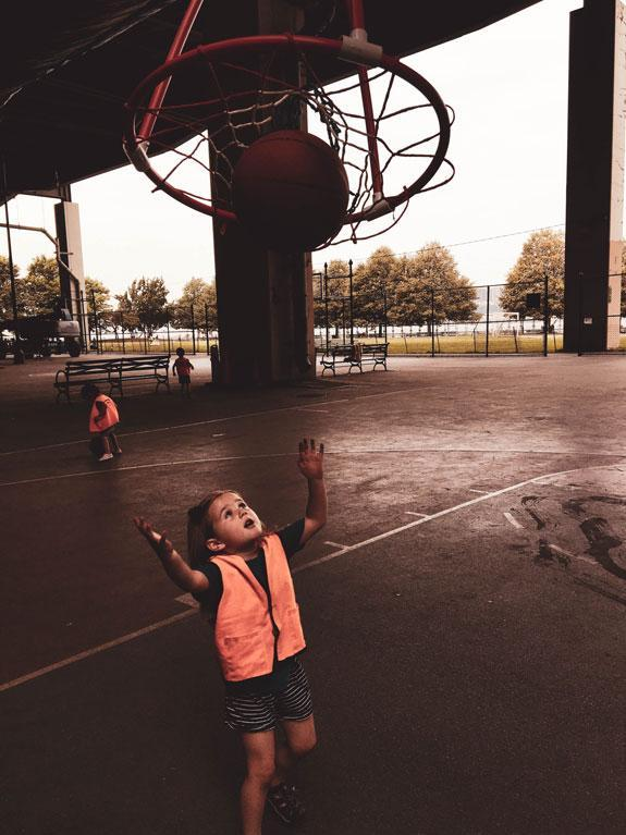 HWIS Immersion Summer Camp HudsonWay Olympian Shoots a Basketball