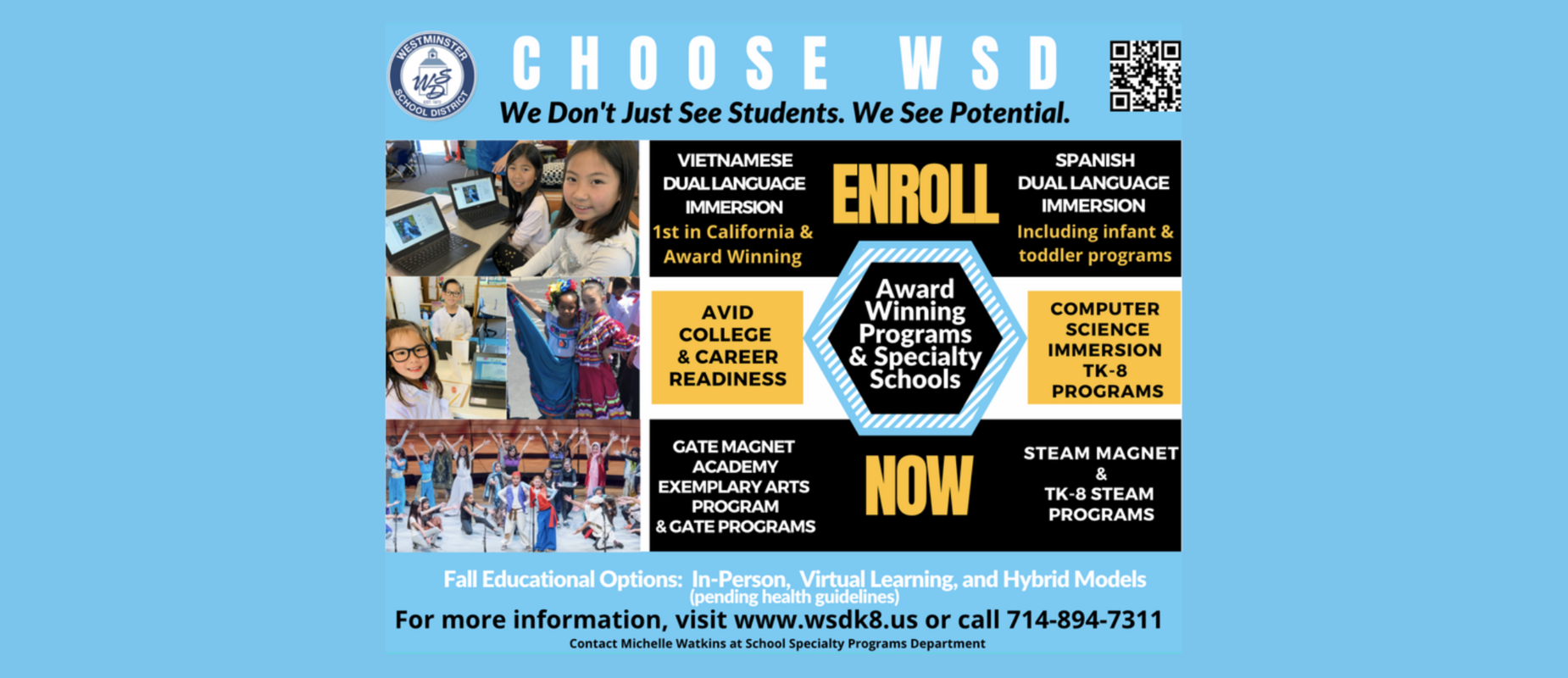 Enroll Now at Westminster School District