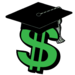 clip art of dollar sign with graduation cap