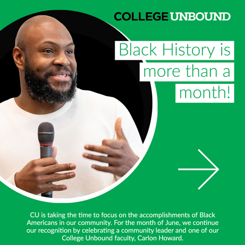 Black History is more than a month!  | Carlon Howard