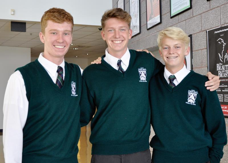 Saint John Paul the Great students Zachary Elliott,Lucas Haddock, andBenjamin Raffier have been named Semifinalists in the 2019NationalMeritScholarship Competition.