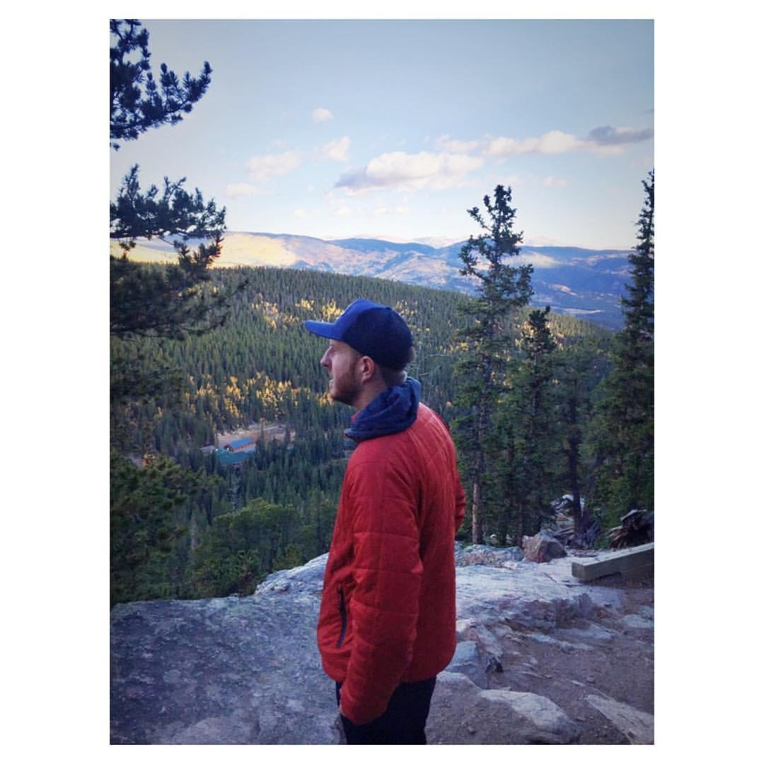 Mr. Gray on a hike in Colorado.