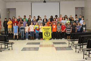 48 B-L MIDDLE SCHOOL STUDENTS INDUCTED INTO THE JR. BETA CLUB