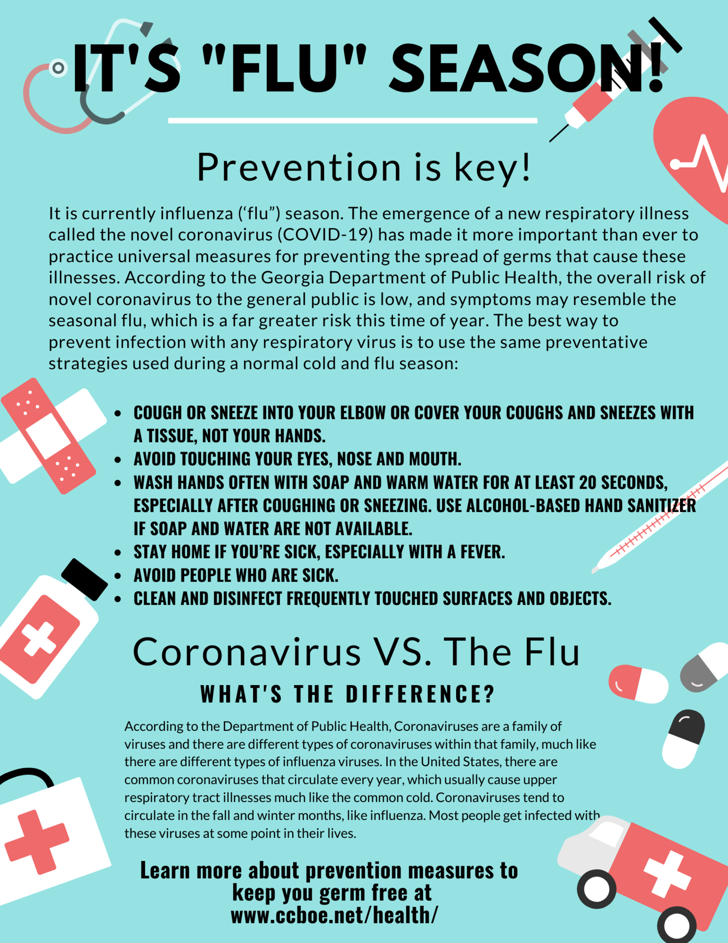 Flu prevention information