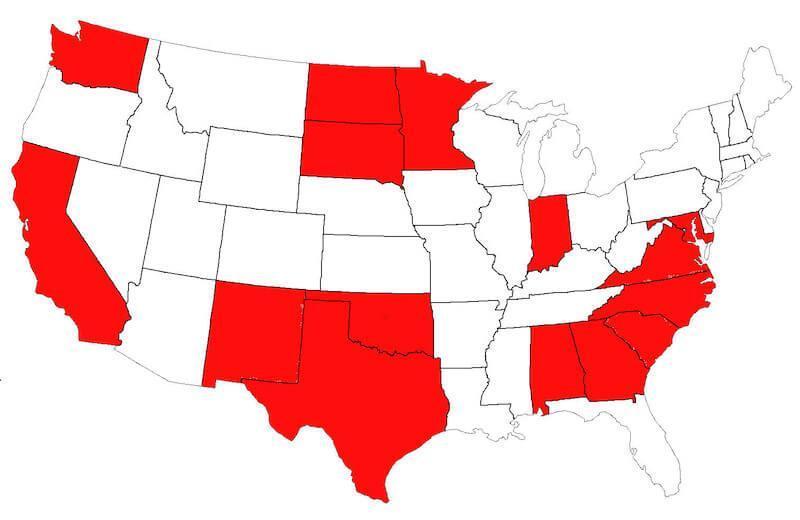 AHI US Map