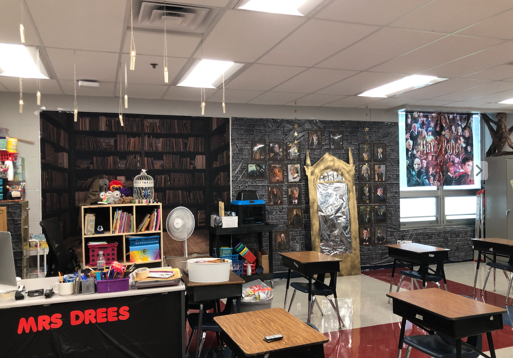 And just a full shot of what the side wall of the classroom looks like.