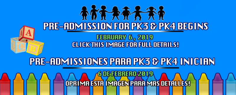 ATTENTION! Tuition Free Prekindergarten Programs for the 2019-2020 School Year Featured Photo