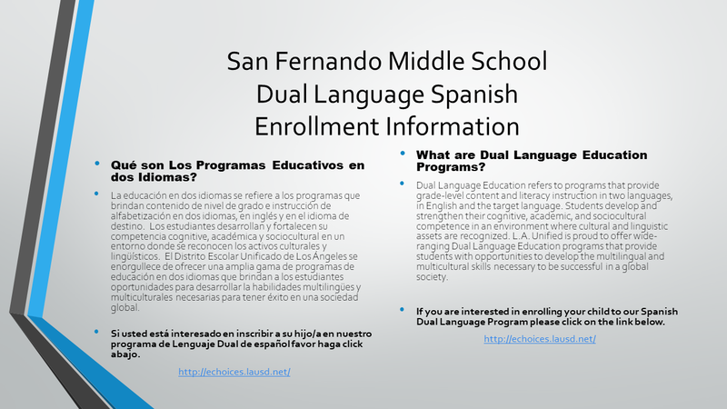 SFMS Enrollment Dual Language Featured Photo