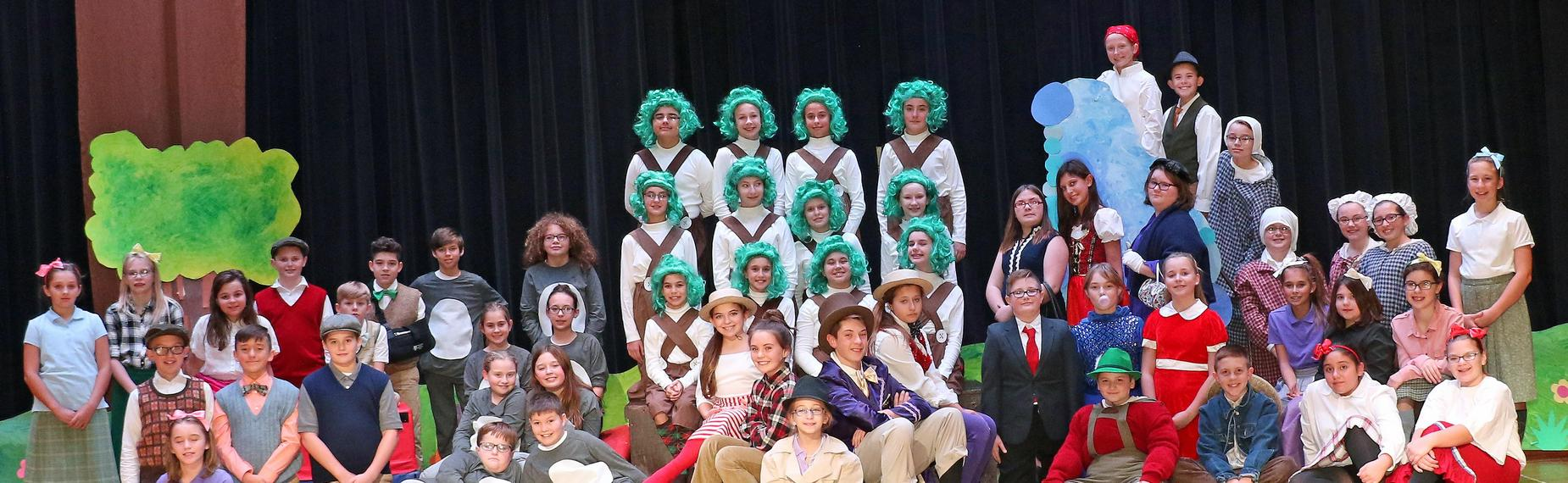 Willy Wonka Kids Cast - 6th grade musical