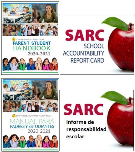 School Accountability Report Card (SARC) & 2020-2021 Parent-Student Handbook / Informe de responsabilidad escolar (SARC) y Manual para padres y estudiantes de 2020-2021 Featured Photo