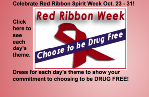Red Ribbon Week is Oct. 23-31!