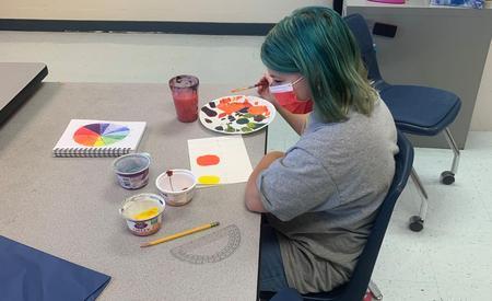 GTMS Art Student!