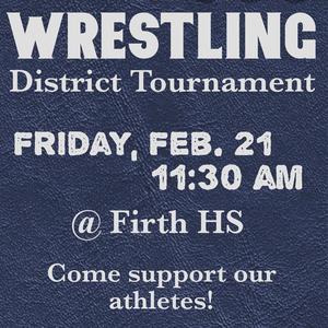 Wrestling District Tournament