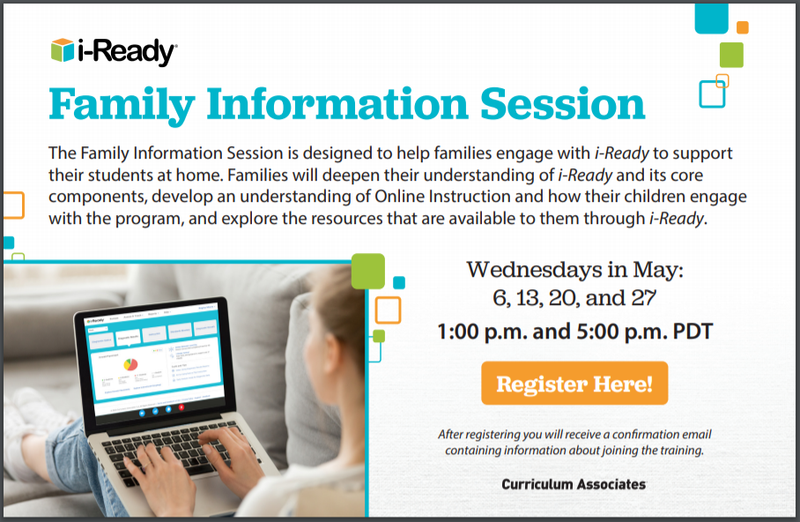 i-Ready Family Information Sessions Featured Photo