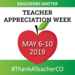 Teacher Appreciation Week red Apple