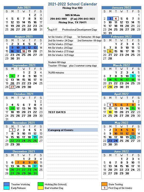 21-22 Calendar