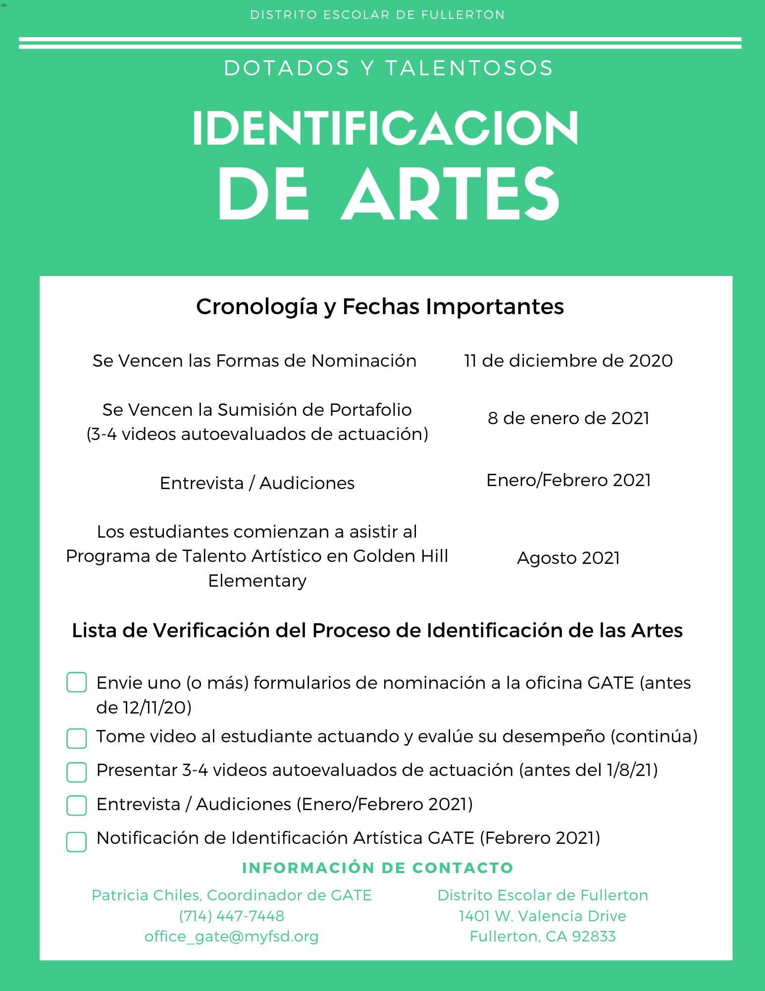 Arts ID Spanish 2