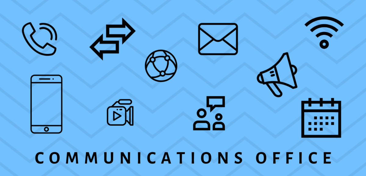 graphic with communications icons