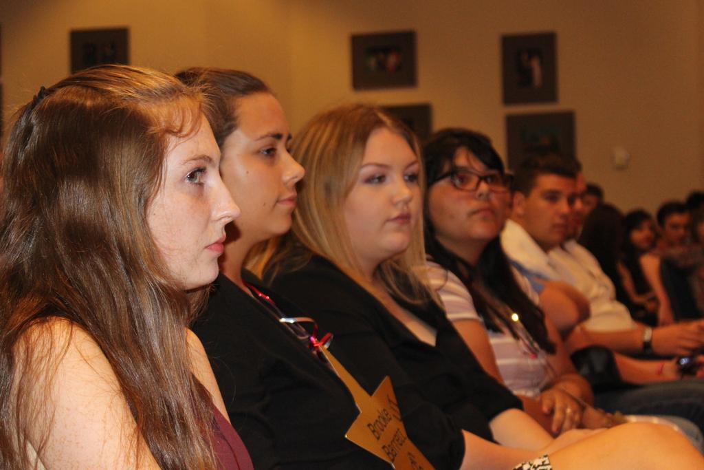 Class of 2018 Scholarship Recipients Haley Sloan, Brooke Barrett, Emma Cagle, Alexa Leahy and Geno Albini