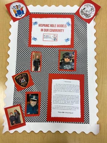 Hispanic police officer collage