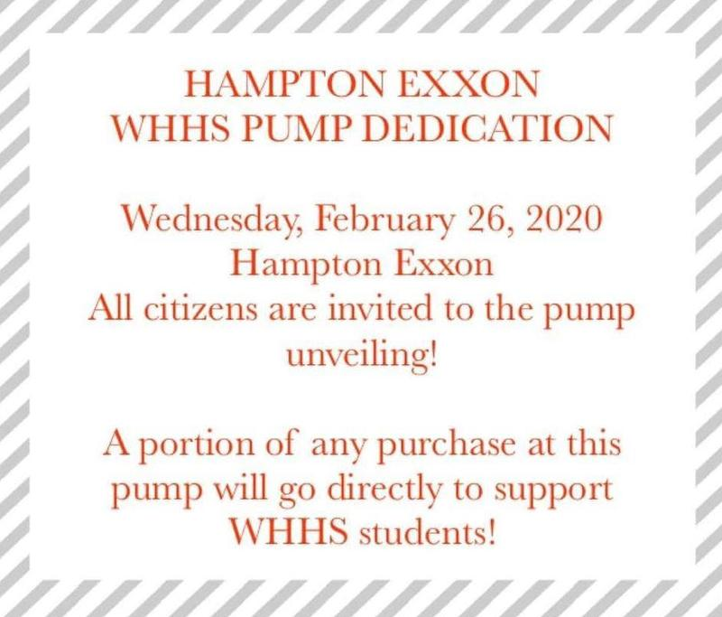 WHHS Exxon Pump Dedication