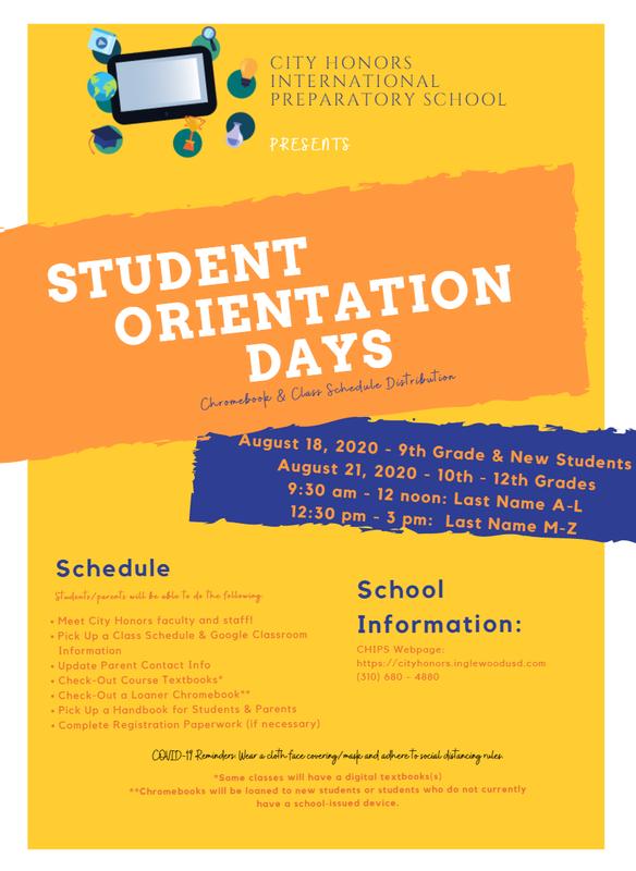 STUDENT ORIENTATION DAYS
