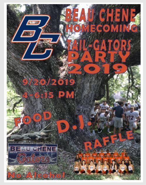 Homecoming Tailgating Party Flyer