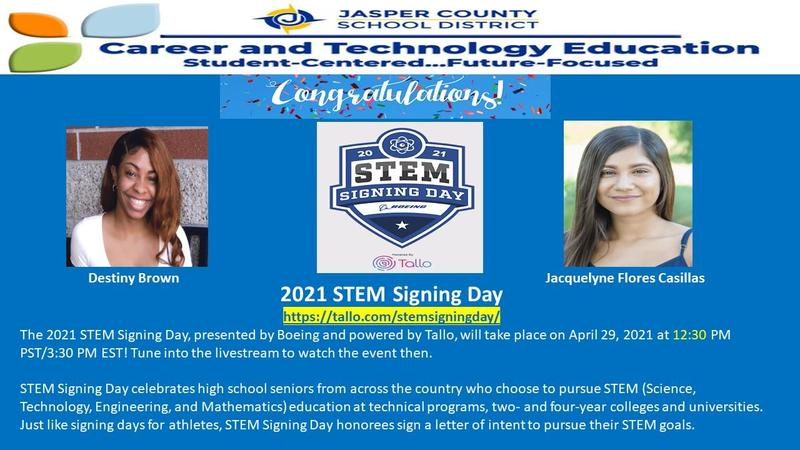 2021 STEM Signing Day Featured Photo
