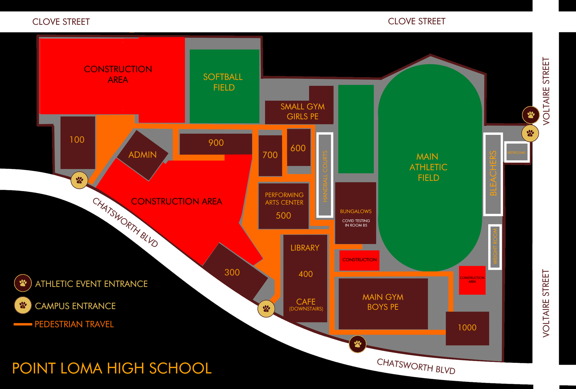 Campus map after May 21, 2021