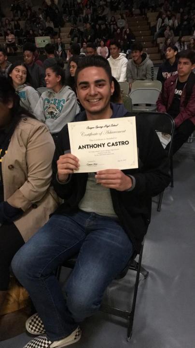 2019 senior Anthony Castro